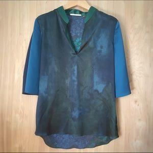 T Tahari Tops - T Tahari // Mandarin Collar Blouse Size SP