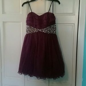 Xtraordinary Dresses & Skirts - Short Purple Sparkly Prom/Cocktail Dress
