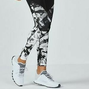 Fabletics Pants - Black & White Printed Leggings
