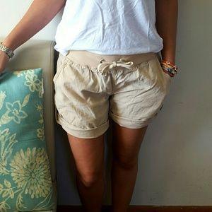 lfl Pants - Beige Linen Shorts