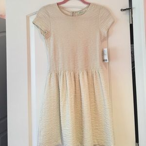 Kimchi Blue Dresses & Skirts - Cream Shimmer Dress with Cutout