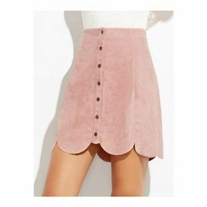 Scallop Suede Skirt