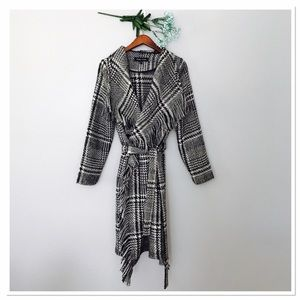 Black Rivet Jackets & Blazers - Black River fringe coat