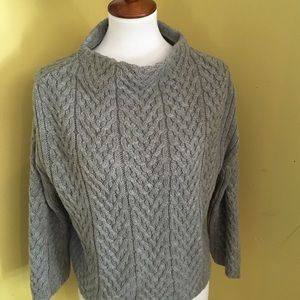Zara knit size M cable knit gray sweater