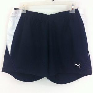 Puma Pants - Navy and white Puma running shorts