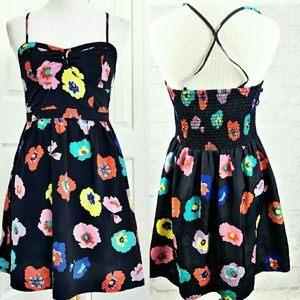 American Eagle Outfitters Dresses & Skirts - ⓈⒶⓁⒺ AEO Navy Floral Corset Dress