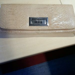 Lulu Townsend Handbags - Leather snake skin clutch