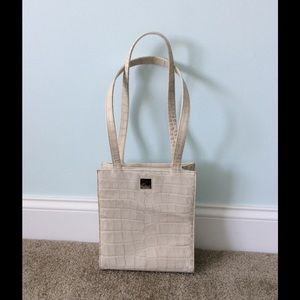 Dooney & Bourke White croc purse