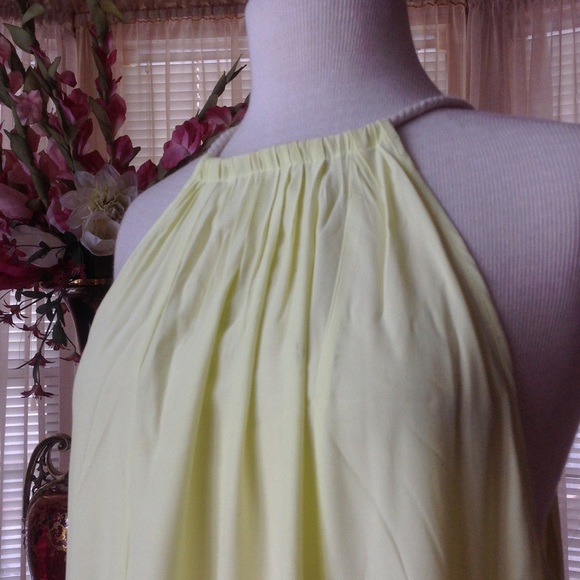 Witchery maxi dress yellow and white