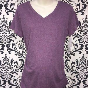 NWT Liz Lange Plum Purple T-Shirt Top Size Large
