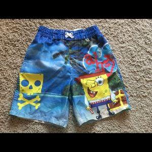 Nickelodeon Other - Nickelodeon Spongebob pirate 4T swim shorts
