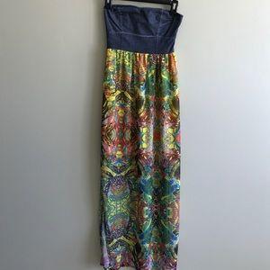 SALE! NWT Strapless Flowy Boho Maxi Dress