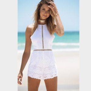 Sabo Skirt Other - White lace romper