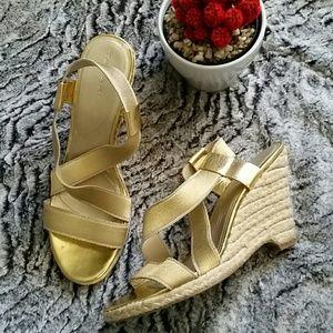 Tahari Shoes - ⚠️Lowball Offer Sale⚠️Gold Tahari Wedges