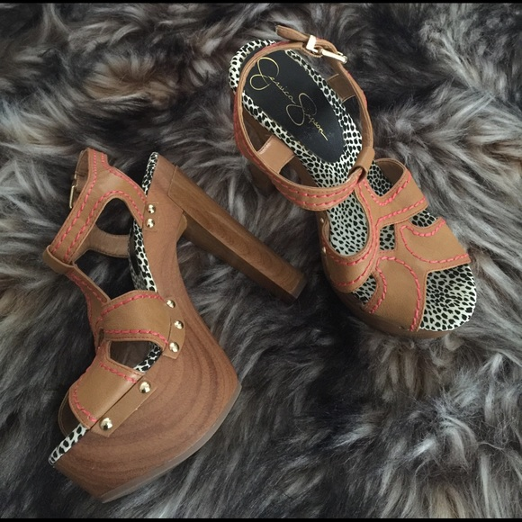 3a78e8ac78 Jessica Simpson Shoes - JESSICA SIMPSON Wenda Woodies Platform Gypsy Heels