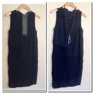 Lush Tops - Sleeveless Navy Tunic By Lush NWOT