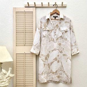 Tommy Bahama Dresses & Skirts - Tommy Bahama Tropical Print Linen Shirt Dress❤