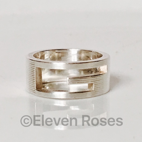 24f2dfd89 Gucci Jewelry | Sterling Silver G Cut Out Band Ring | Poshmark