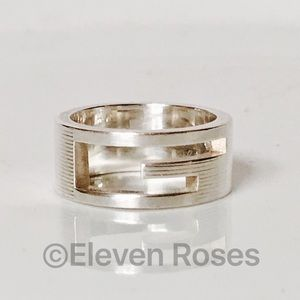 Gucci Jewelry - Sterling Silver Gucci G Cut Out Band Ring