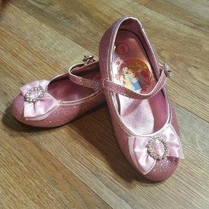 Disney Other - Disney Princess pink glitter shoes