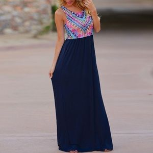 Dresses & Skirts - Coming soon Navy blue maxi dress