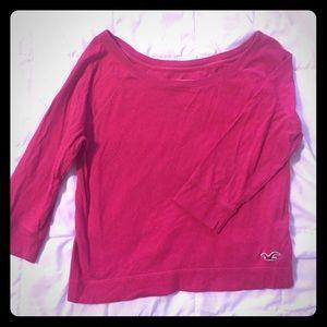 Hollister Tops - Hollister wide neck super soft t- shirt 🌈SALE🌈