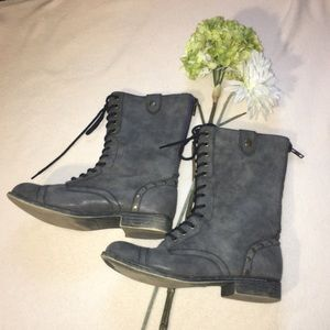 Madden Girl Shoes - MADDEN GIRL | zip back lace up combat boots