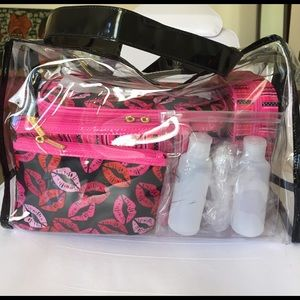 Tartan + Twine Handbags - 8 piece Travel Set NWT