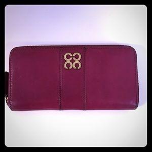 Coach Handbags - *Coach Accordion Zip wallet in raspberry leather*