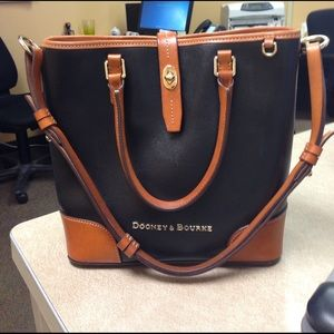Dooney & Bourke Handbags - Dooney & Bourke Leather Shoulder Bucket Bag.