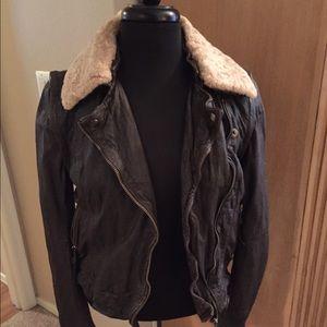 Muubaa Jackets & Blazers - Muubaa leather jacket with Shearling Collar