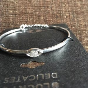 Lucky Brand Jewelry - Lucky brand evil eye bangle sterling silver NWT