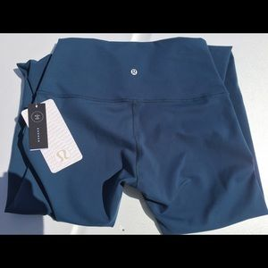 lululemon athletica Pants - Lululemon Wunder Under Pants High Rise Blue New