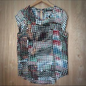 Trouve Tops - Trouvé // Multicolored Sleeveless Blouse Size S