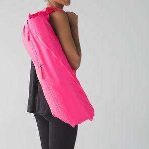 Neon pink RARE lululemon the yoga bag