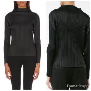 Issey Miyake Tops - Issey Miyake Pleats Please Funnel Neck Top size M