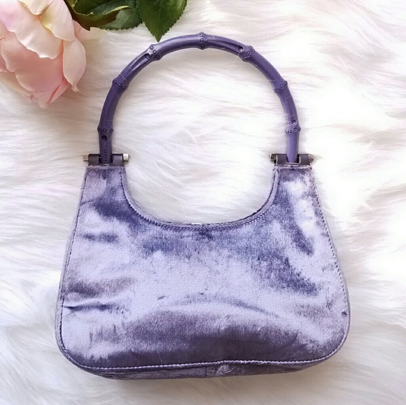 0a86bc22d50a21 Gucci Handbags - SALE! Vtg Auth Gucci 90s velvet mini bag bamboo
