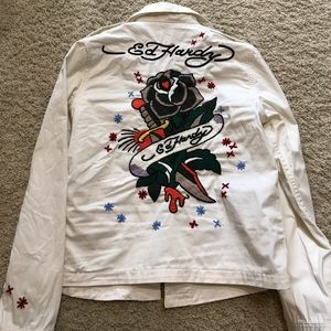 Ed Hardy embroidery shirt/jacket very rare