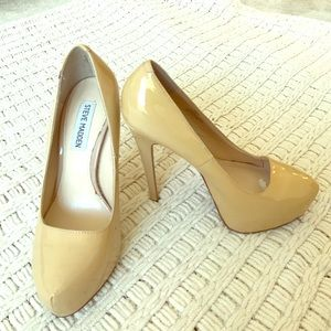 STEVE MADDEN LEATHER PLATFORM PUMPS SIZE 6.5
