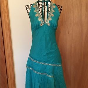 Ruby Rox Dresses & Skirts - Gorgeous turquoise halter summer dress💕