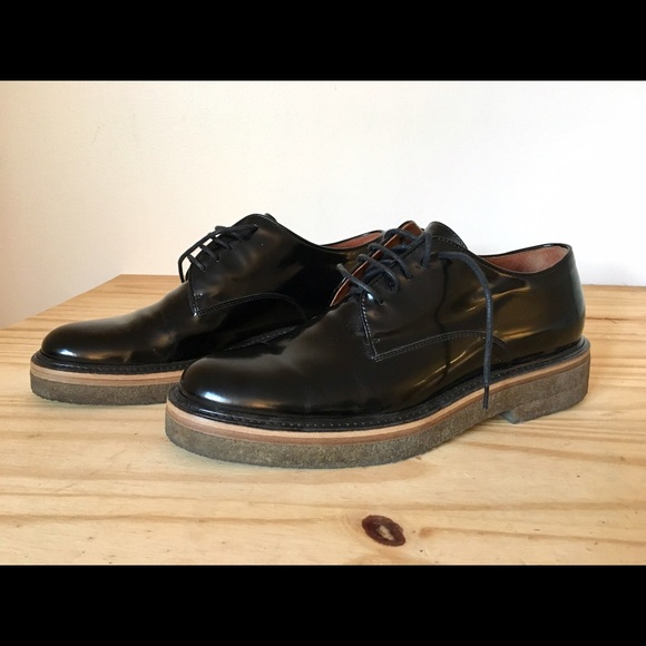 f34a01778c 55% off Dries Van Noten patent leather derby shoes