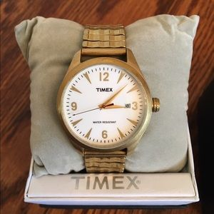 Timex Accessories - Timex '50s gold stretch band watch