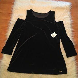 Tahari Tops - Cold shoulder velvet tahari shirt