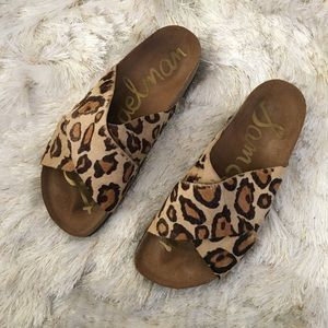 Sam Edelman Shoes - Sam Edelman Leopard Print Slide Sandals 7