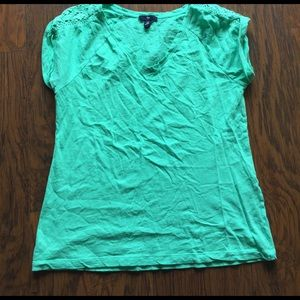 GAP Tops - Pretty gap shirt with lace detailing size M