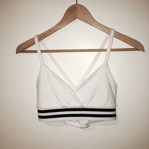 """Tobi """"Cross you Out"""" athletic bra top"""