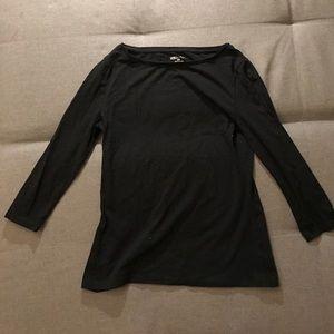 J.Crew Factory Tops - Black quarter sleeve t-shirt