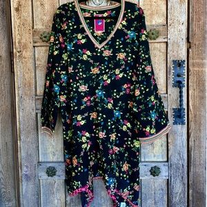 🎶PLUS SIZE Johnny Was Asymmetrical Floral Tunic