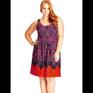City chic tribal print dress 14