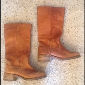 Frye Shoes - FRYE TALL BROWN LEATHER CAMPUS RIDING BOOTS sz 8